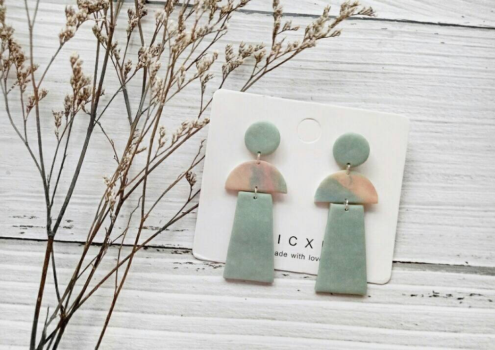 B E A C H • L I F E - the dangle earrings | Handmade Simple Polymer Clay Statement Earrings