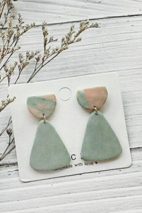 B E A C H • L I F E - the droplet polymer clay earrings | Simple Minimalist Polymer Clay Dangle Earrings